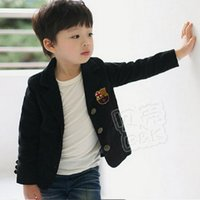 baby boy blazers - New Spring Autumn Preppy Style Children s Child Clothing Baby Long Sleeve Suit Boys Black Color Size3 Blazers wt