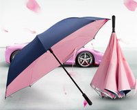 Wholesale Flower Umbrellas Creative Special Auto Reverse Personality Straight Long Handle Double decker Umbrella for Men and Women Hot New Fashion