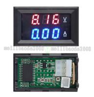 Wholesale Top Quality DC V A Voltmeter Ammeter Blue Red LED Amp Dual Digital Volt Meter Gauge MYY