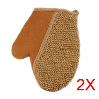 Wholesale New Shower Scrubber Back Scrub Exfoliating Body Massage Sponge Bath Flax Gloves