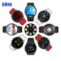 Wholesale 2016 Lemfo KW88 MTK6580 Android OS Smart Watch Phone Screen quad core smartwatch Support SIM pedometer heart rate