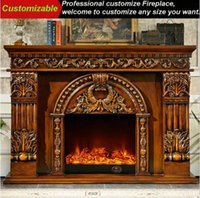 Wholesale Europe Simulation Fire Flame Fireplace Luxury Home Decor TV Caninet Fire Pplace Curomizable Style Fireplaces Househould Furnishing