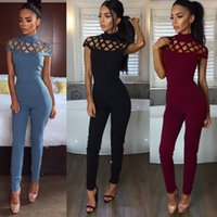 amp services - European Sexy Three colour Burning Flower Serve Night Service Bandage Pants Spandex jumpsuits amp rompers