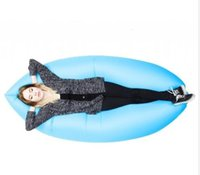 Wholesale 2016 HOT Fast Inflatable Camping Sofa banana Sleeping Lazy Chair Bag Nylon Hangout Air Beach Bed chair Couch