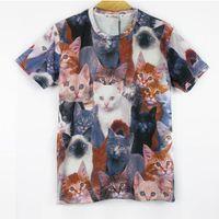achat en gros de shirt de douille d'impression des animaux gros-T-shirts manches courtes de chemises de T-shirts de chemises de douille d'impression de T-shirts