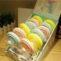 aroma toys - Popular Toys Educational Hand Press Mini Handheld Fan Small Lovely Lollipop Fan Pocket Fan VBO40 P15 Aroma