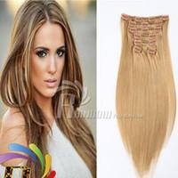 Wholesale Human Hair Clip Ins Remi Clip In Human Hair Extensions G Real cheap hair