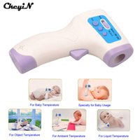Wholesale Baby Adults Surface Of Objects Electronic Multifunctional Medical Termometro NonContact Forehead Body Infrared Digital Thermometer Freeshipp