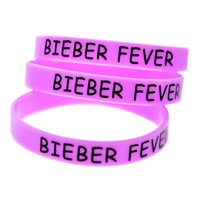 bieber fever - Printed Bieber Fever Silicon Bracelet Great To Used In Any Benefits Gift For Music Fans