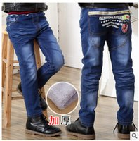 Wholesale A new children s children on behalf of Korean children jeans and jeans thick cashmere trousers thickening