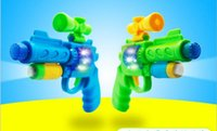 Wholesale Electric projection eight sound gun children s mini toy gun educational toys electric music light early childhood toys