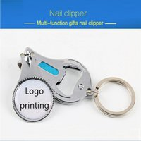advertising steel cans - Practical function gifts nail scissors steel advertising opener nail clippers key chain can be printed logo FA007