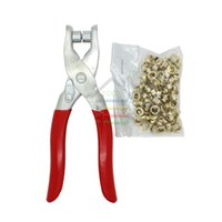 Wholesale New DIY Grommet Eyelet Pliers Shoes Eyes Clamp With about Eyelets For Fabric Paper Bags