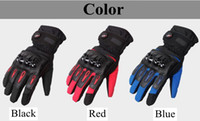 Wholesale Warm gloves Men waterproof thickening Winter Knight locomotive Windproof touch screen Dodge riding equipment Motorcycle gloves