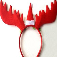 Wholesale Head hoop large antlers Christmas decorations adult children head buckle tire festival gift