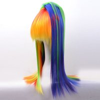 Wholesale Long Straight Womens Hair Wigs Inch Laides Piano Color Hair Wigs Pony Novelty Cosplay Hair Wigs