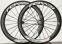 Wholesale 700C Clincher wheelset mm width Carbon Wheelset mm depth Clincher Road Bicycle Wheelset with Powerway R36 Straight pull Hubs