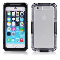 Pour l'iPhone 7 plus imperméable Cell Phone Cover Étuis Shorkproof 2 en 1 Hybrid Water Snow Proof iPhone 6 6S Plus cas de protection