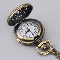 beauty stationary - Vine Web Flower Hollow Pocket Watch Retro Bronze Chain Pendant Necklace enhance your inner beauty Top Quality hot