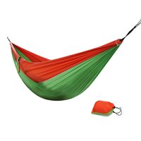 DHL double personne Camping Hanging Hamac Outdoor Parachute Portable Nylon tissu 270 * 135cm 3-en-1 parachute hamac Livraison gratuite