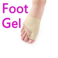 El nuevo gel calza el dolor del pie del dispositivo de Hallux Valgus de la manga alivia el cuidado de los pies El dedo del pie del Orthotics del silicio que solapa los dedos grandes que la corrección 10pcs / Bag