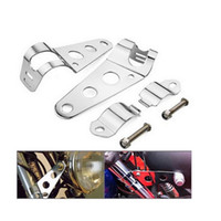Wholesale Motorcycle Headlight Mount Bracket Side Tubes For Honda Kawasaki Herlay Chrome mm mm Universal