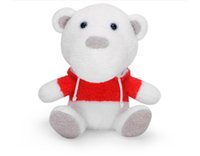 baby bears jersey - 2017 New Cute Plush Doll Plush Bear Wearing Jerseys quot White Lovely Figure Plush Toys for Grab Machine Baby Doll Gift Doll Birthday Gift