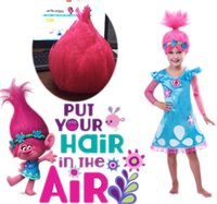 Wholesale Trolls Dress Cosplay Wig Trolls Poppy Dress High Quality Trolls Girls Party Cosplay Dress Size In Stock Retail