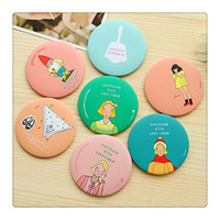 Wholesale 2016 Hot Makeup Mirror Pocket Purse Hand Thin Mirror Compact Lovely Cosmetic Round Mirror Best Travel Color Random