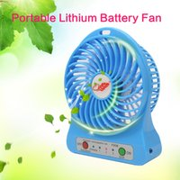bathroom timers - F95B Portable Mini USB Fan Rechargeable Battery Operated LED Lamp for Indoor Outdoor Kids Table Mini Fan