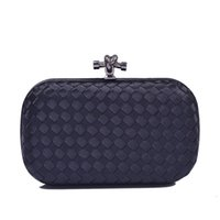 Women formal clutch Avis-Vente en gros de dames de luxe Superstar marque de conception faite à la main en tricot embrayage sac de soirée de la mode des femmes en soirée sacs à main d'embrayage XB435