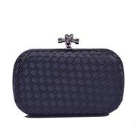 Women formal clutch France-Vente en gros de dames de luxe Superstar marque de conception faite à la main en tricot embrayage sac de soirée de la mode des femmes en soirée sacs à main d'embrayage XB435