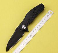 Wholesale real S35VN balde Knife Zero Tolerance ZT0777 Folding Knife PVD Black S35VN Blade Perfect Touch Carbon Fibre Handle