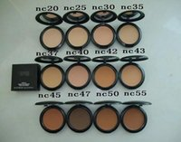 Wholesale NEW makeup AAA quality Face Powders puffs g New Makeup Face g Studio Fix Powder Plus Foundation NC20