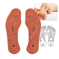 Wholesale 1Pair Magnetic Therapy Magnet Health Care Foot Massage Insoles Men Women Comfort Pads Foot Care Massager