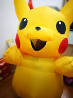 Wholesale Hot sale Carnival suiit Child and Adult size inflatable pikachu mascot costume Cartoon Character Costumes party dress