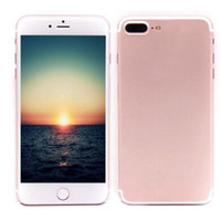 Android Quad Core 1GB 1pc Goophone i7 plus 1:1 clone cell phones 5.5 inch MTK6580 Quad Core 1G 4G show 4g lte Show 1G 128G 256 G android Smartphone Metal Body DH