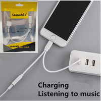 audio adapter usb - Lamchin Loly in Earphone mm Audio AUX Jack USB Charge Adapter Cable to Lighting Connector for iphone with Packing