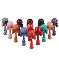 Wholesale High quality Wooden Kendama toys Best Wooden toy for Kids outdoor Sport Ball Colorful Kendama Crack Paint oyuncak