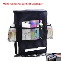 Wholesale Car Cooler Bag Seat Organizer Holder Multi Pocket Arrangement storage Bag Insulated Back Seat Chair Car Styling Seat Cover Organiser b1138