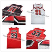 Wholesale Throwback Mesh Dennis Rodman Jerseys Throwback Mesh Scottie Pippen Jersey Jerseys sales embroidery Logos