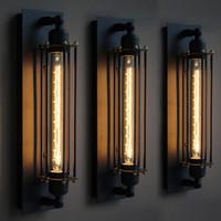 Wholesale Loft American vintage wall lamp bed lighting eye lantern wall lights Lamp For Home Wall Sconce Metal Frame