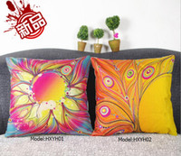 Wholesale Kinds of Vintage Cushion Case Colorful activity printing pillowcases factory direct sport Composite linen pillowcases Cover x42cm