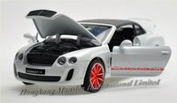 bentley continental car - 1 Scale Alloy Metal Diecast Car Model For Bentley Continental Supersports ISR Collection Pull Back Toys Car With Sound Light With Hood