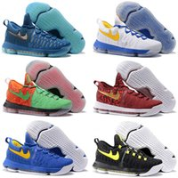 Kd chaussures hommes taille 12 France-2016 Hot Sale KD 9 Hommes Basketball Chaussures KD9 Oreo Gris Wolf Kevin Durant 9s Hommes Sport Training Sneakers Warriors Accueil US Taille 7-12
