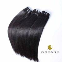 al por mayor mixta brasileña virginal longitud-Extensiones 100% del pelo humano de la alta calidad el pelo humano virginal brasileño 3bundle de la trama Longitud de la mezcla Color natural sedoso Extensiones del pelo recto