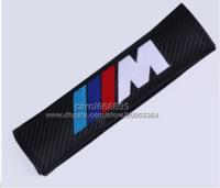 Wholesale Carbon Fiber Cloth Car seat belt pads For BMW M Power Logo Shoulder Pad Sleeve Seat Safety Belt Cover For BMW E90E91 E92 E53 E60 E46 E63 E64