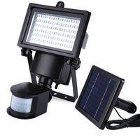 as pic LED IP65 Wholesale- Solar panels LED garden light LED flood Light for safety Pir Motion Sensor 60 LEDs Track Wall Lights outdoor lights Emergency