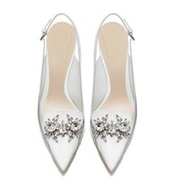 ballet toe shoes for women - 2017 white bridal heels women pumps Italian shoes wedding shoes for wedding prom evening party shoes