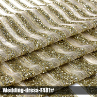 Wholesale 2016 elegant lace glitter sequin fabrics high quality multi color wedding dress for party